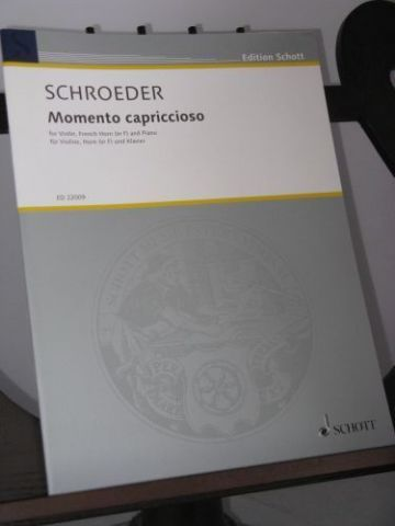 Schroeder H - Momento Capriccioso for Violin Horn and Piano